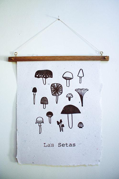 Poster Las Setas / Off white / tinta orgânica