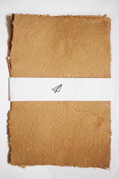 Kit Kraft bordas rústicas - 10 folhas A4