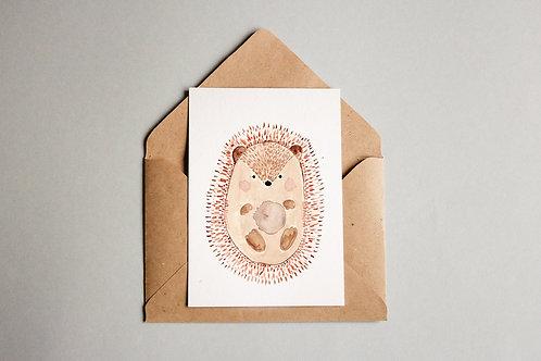 Cartão Porco Espinho