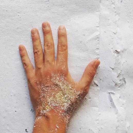 Papel reciclado feito à mão