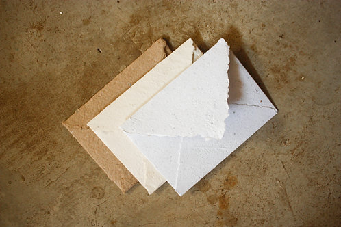 3 Envelopes A6  I  Off white + Pólen + Kraft  I  Bordas rústicas