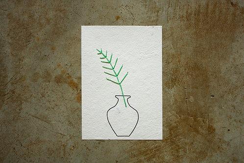 Cartão para bordar - Fern 1