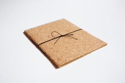 Caderno A5 / Capa kraft / Miolo Kraft