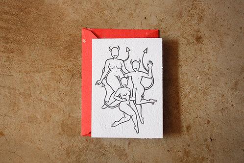 Cartão Manas  I  por Jota Carneiro
