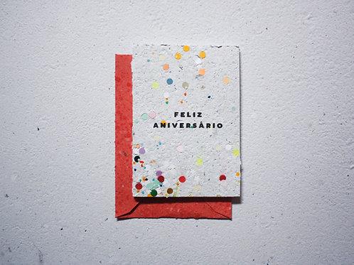 Cartão / Feliz Aniversário