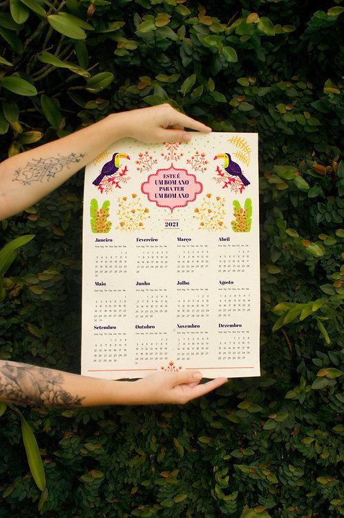 Calendário Positividade / A3 / por Amanda Pierantoni