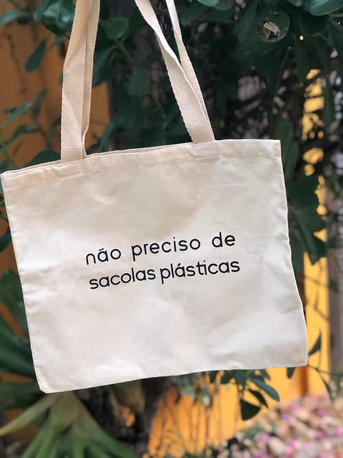 Ecobag Não preciso de sacolas plásticas