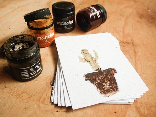 Kit tintas naturais + Bloco A5