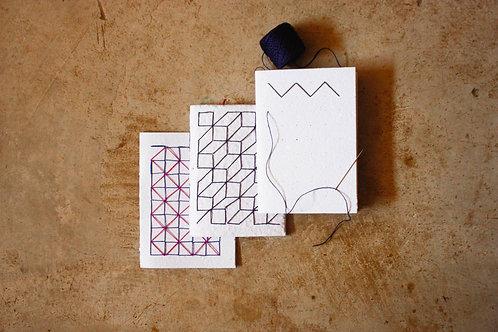 Kit cadernos para bordar - Padronagens