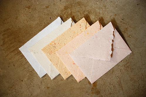 5 envelopes A6  I  Cores pastéis  I  Bordas rústicas