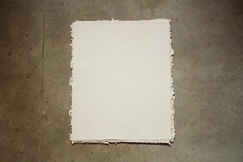 Papel pólen reciclado / 50x40cm / bordas rústicas - 10 folhas