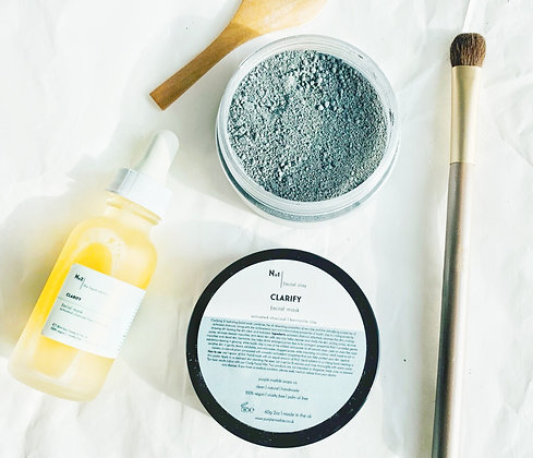 Clarify Facial Clay Mask | Sea Clay + Activated Charcoal