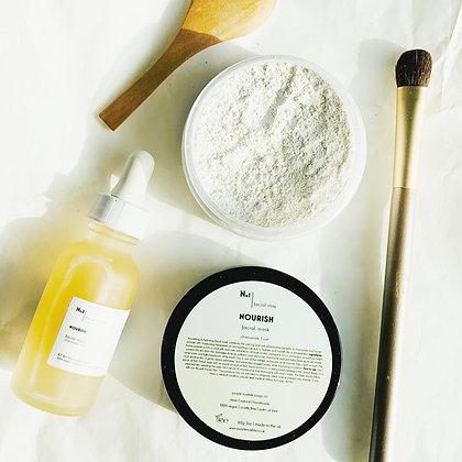 Nourish Facial Clay Mask |  Oatmeal + Chamomile