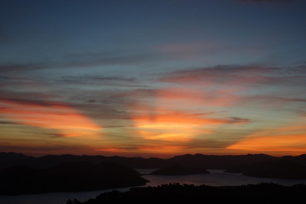 Coucher de soleil au Mont Tapyas