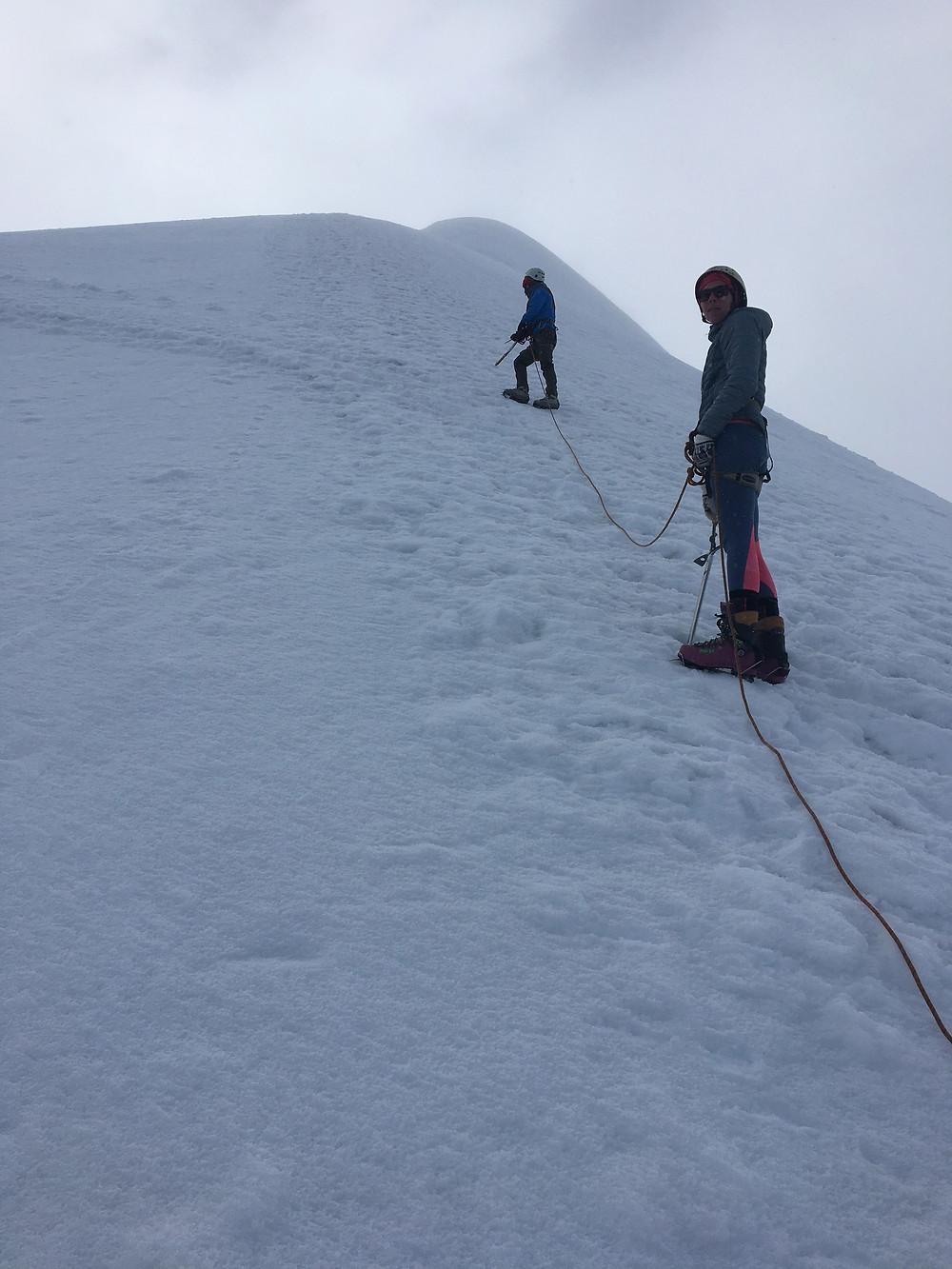 alpinisme au sommet mateo