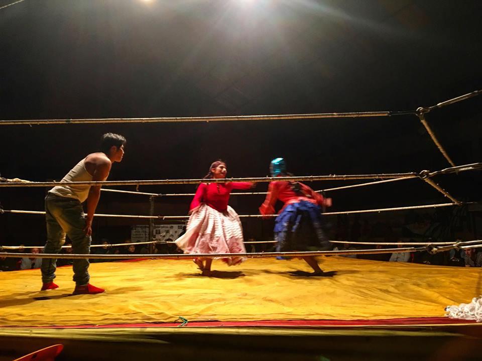 Combat de catch des cholitas