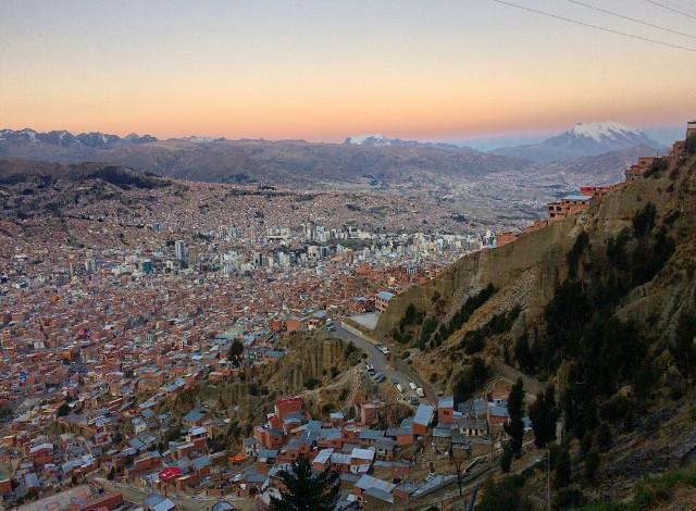 Coucher de soleil sur La Paz