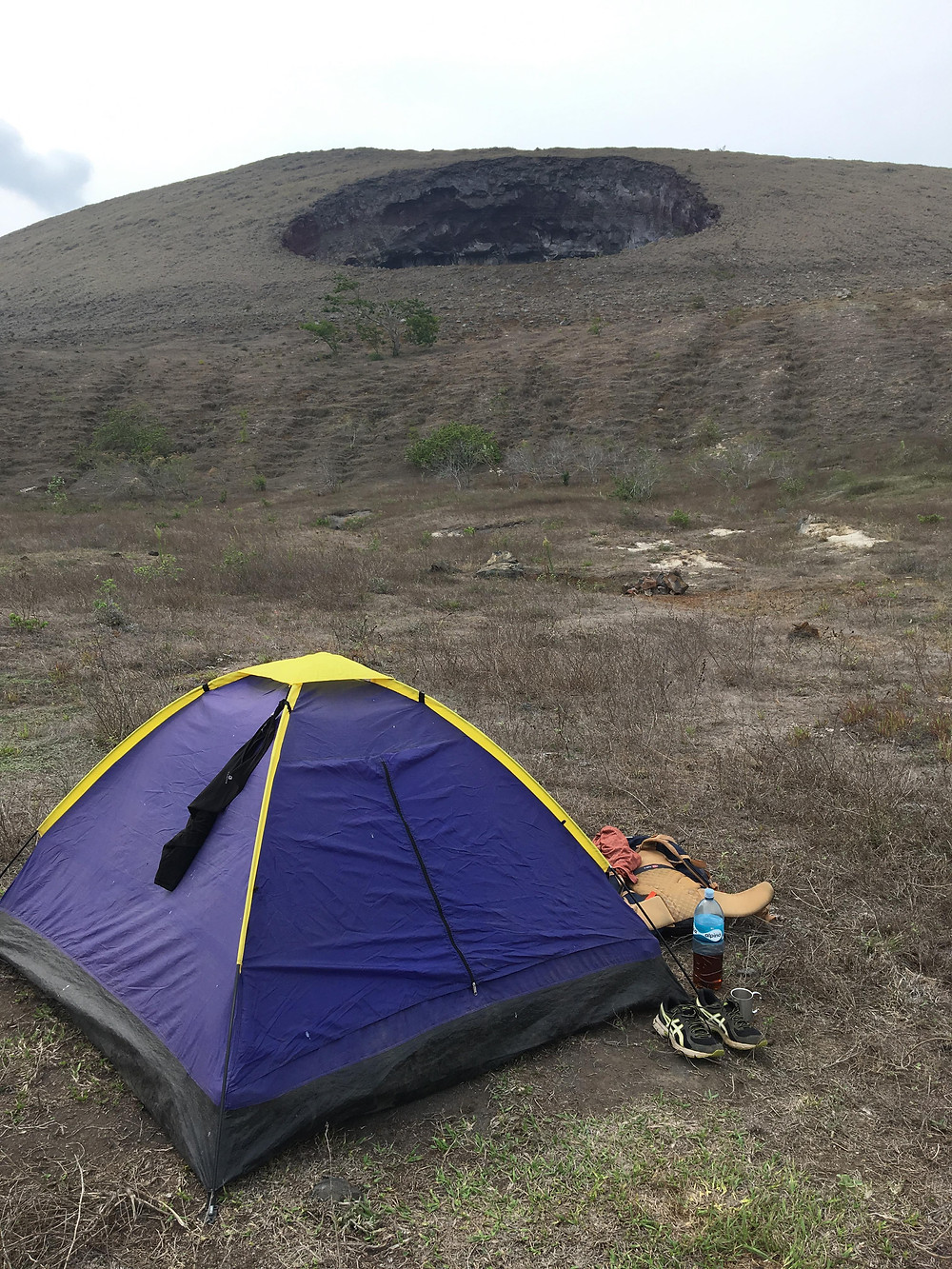 volcan hoyo campement