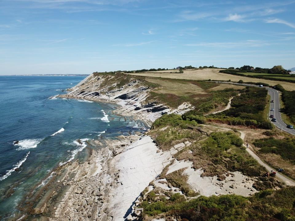 Vue Drone du littoral près de Hendaye