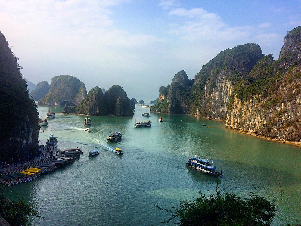 Haong bay depuis Surprising Caves