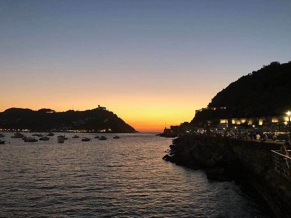 Coucher de Soleil à San Sebastian