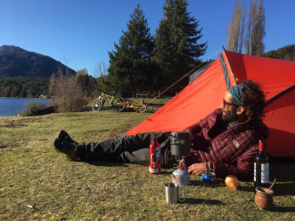 Route des 7 lacs : notre campement