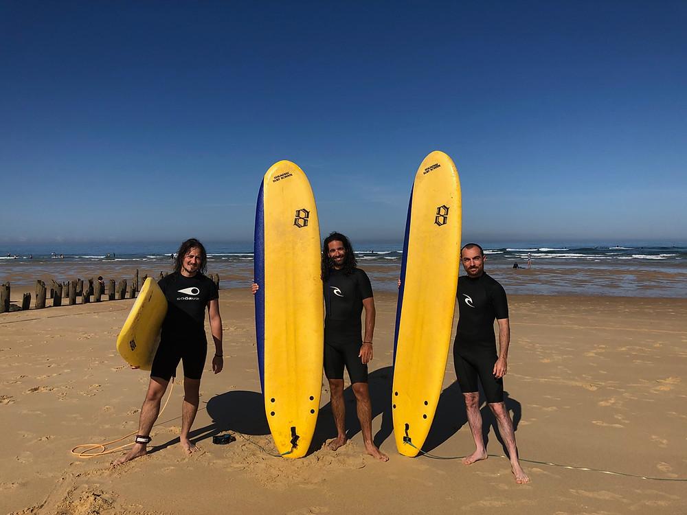 Les surfeurs à Seignosse