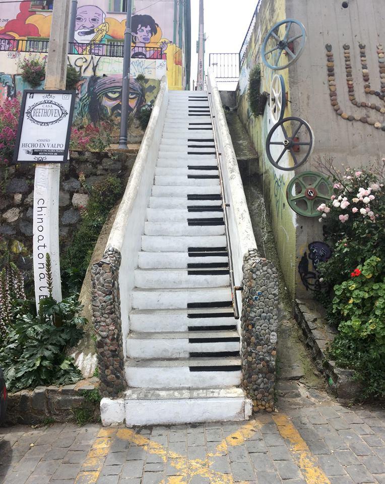 Calle beethoven , valparaiso