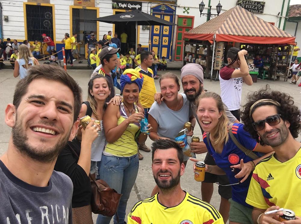Match colombien à salento