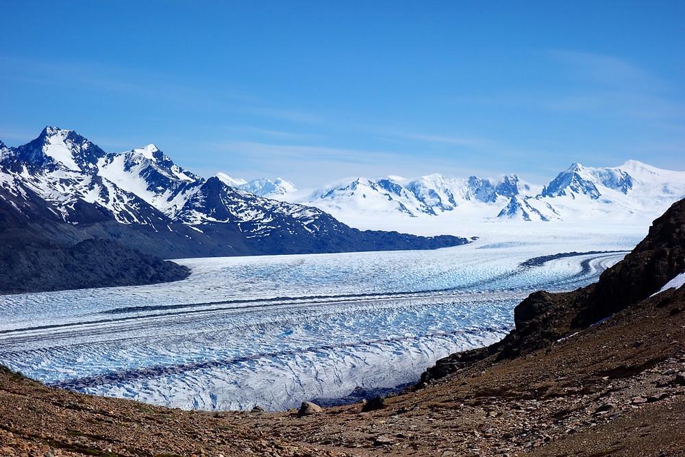 Paso huemul : glacier viedma