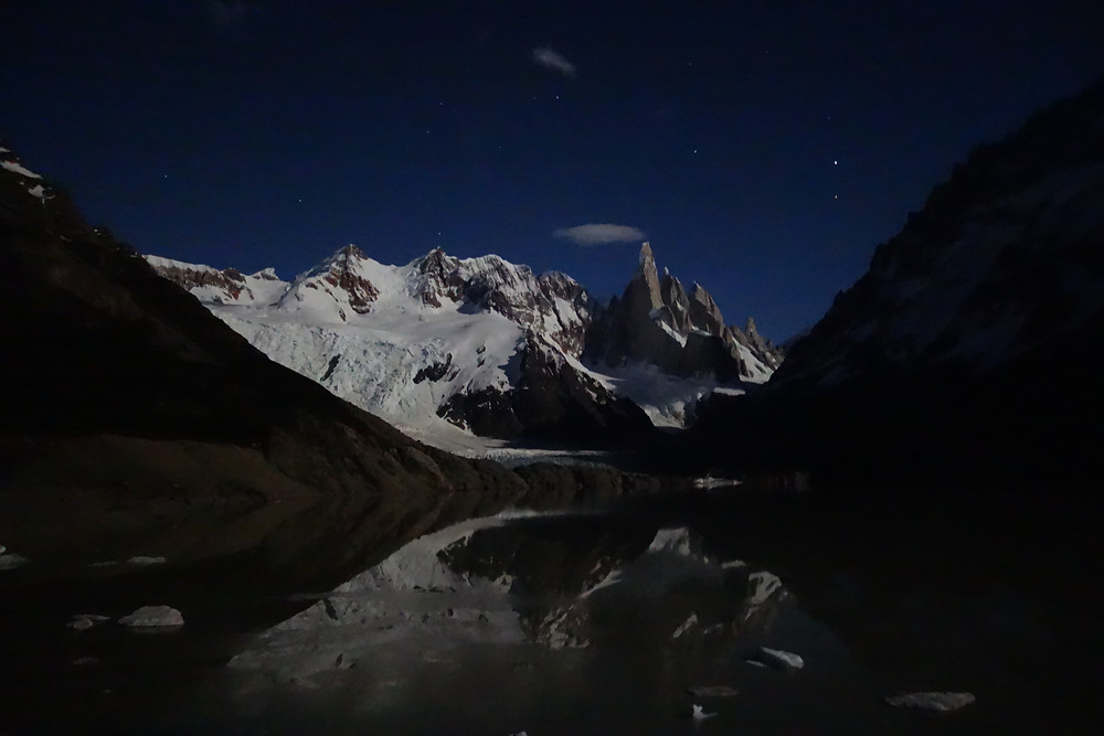 Laguna Torre de nuit