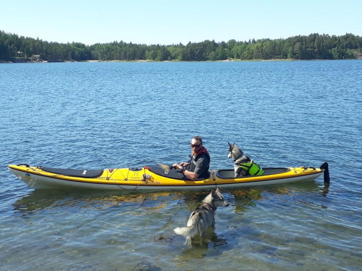 Kayaking with dogs (introduction course)