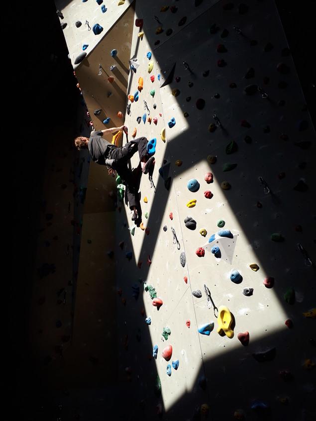 Climbing in the the upper floor of TheRock