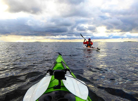 Stunning autumn kayaking in Archipelago sea
