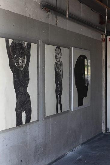 Liv Dysthe Sønderland, Nødinnganger, exhibition in old factory-buildings at Sjøholt, Norway.