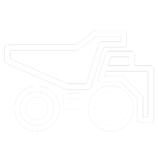 Mining industy icon showing a dump truck