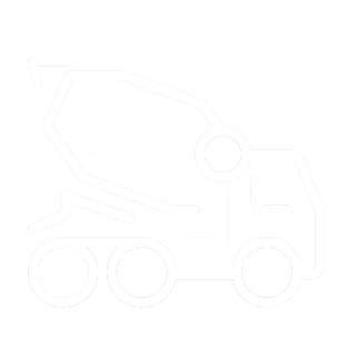 Construction industry icon showng cement truck