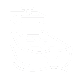Marine industry icon showing a vessel