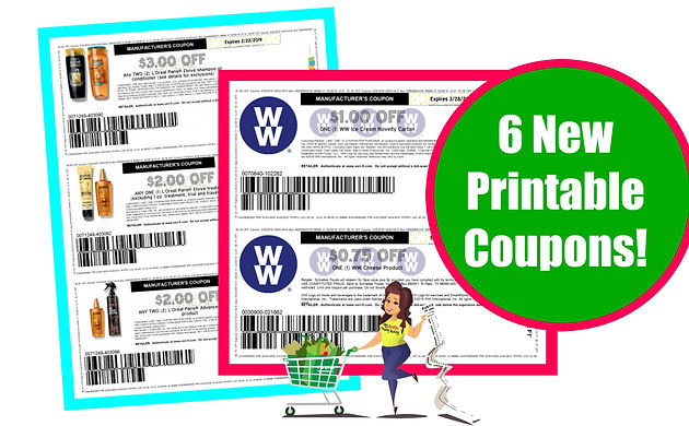 photo regarding Weight Watchers Printable Coupons titled 6 Clean Printable Coupon codes upon Loreal and Excess weight Watcher