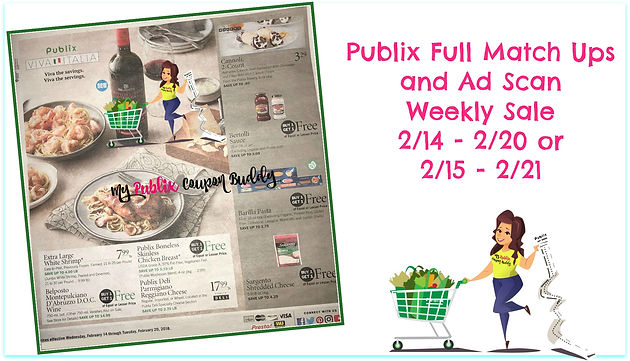 Publix Full Match Ups and Ad Scan Weekly Sale 2/14 - 2/20 or