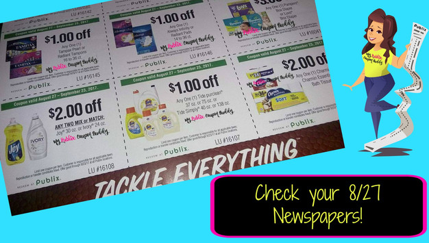 New Publix Coupons  Tackle Everything Single Sheet Flyer  Check