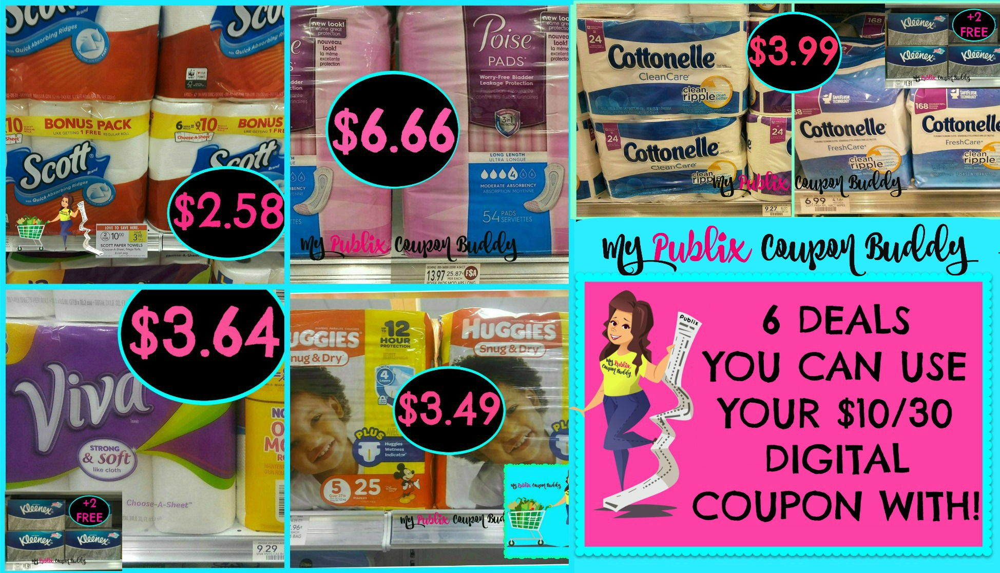 6 Deals you can use your digital $10 $30 coupon with at Publix