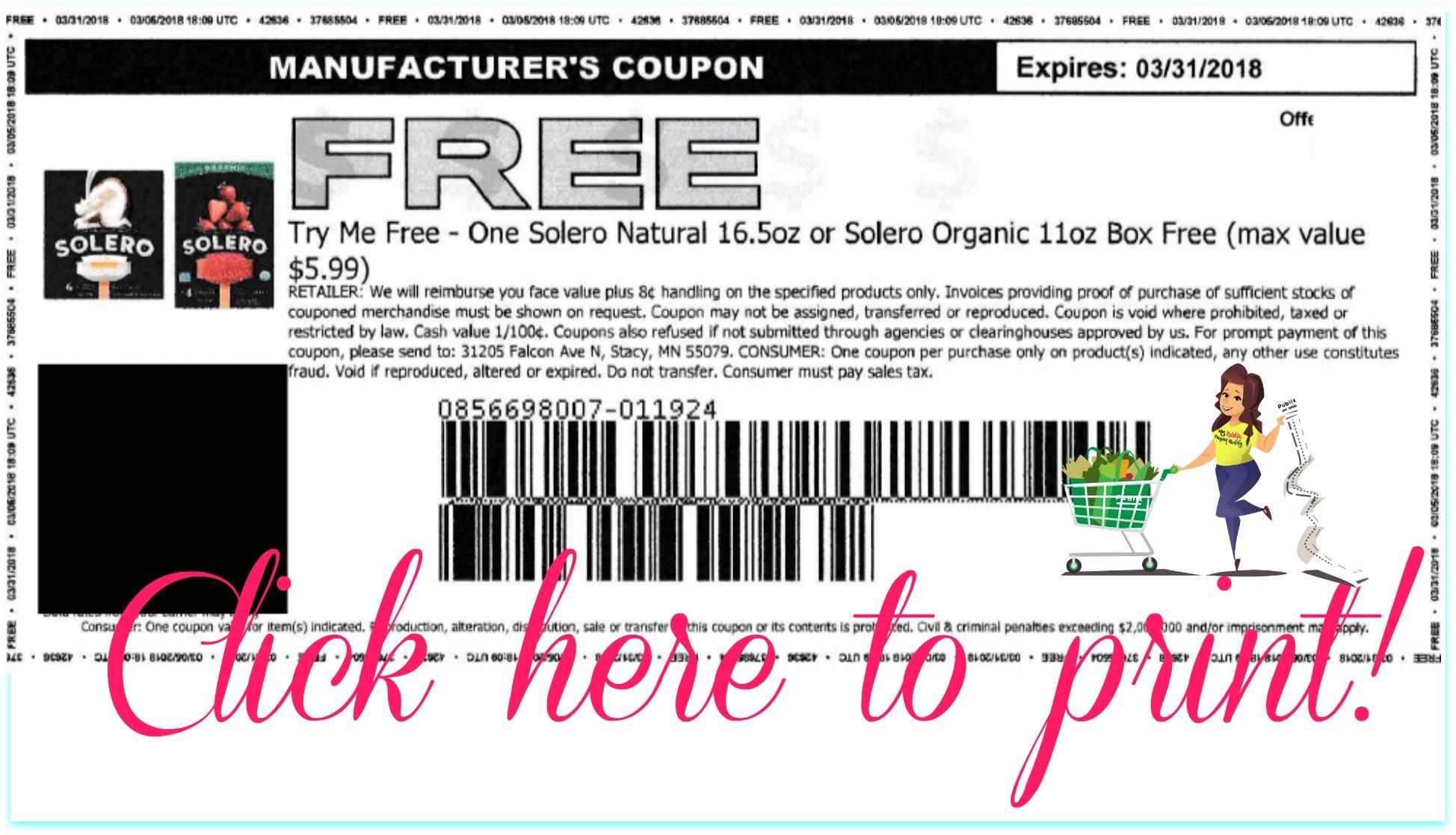 FREE Solero Fruit Bars Coupon