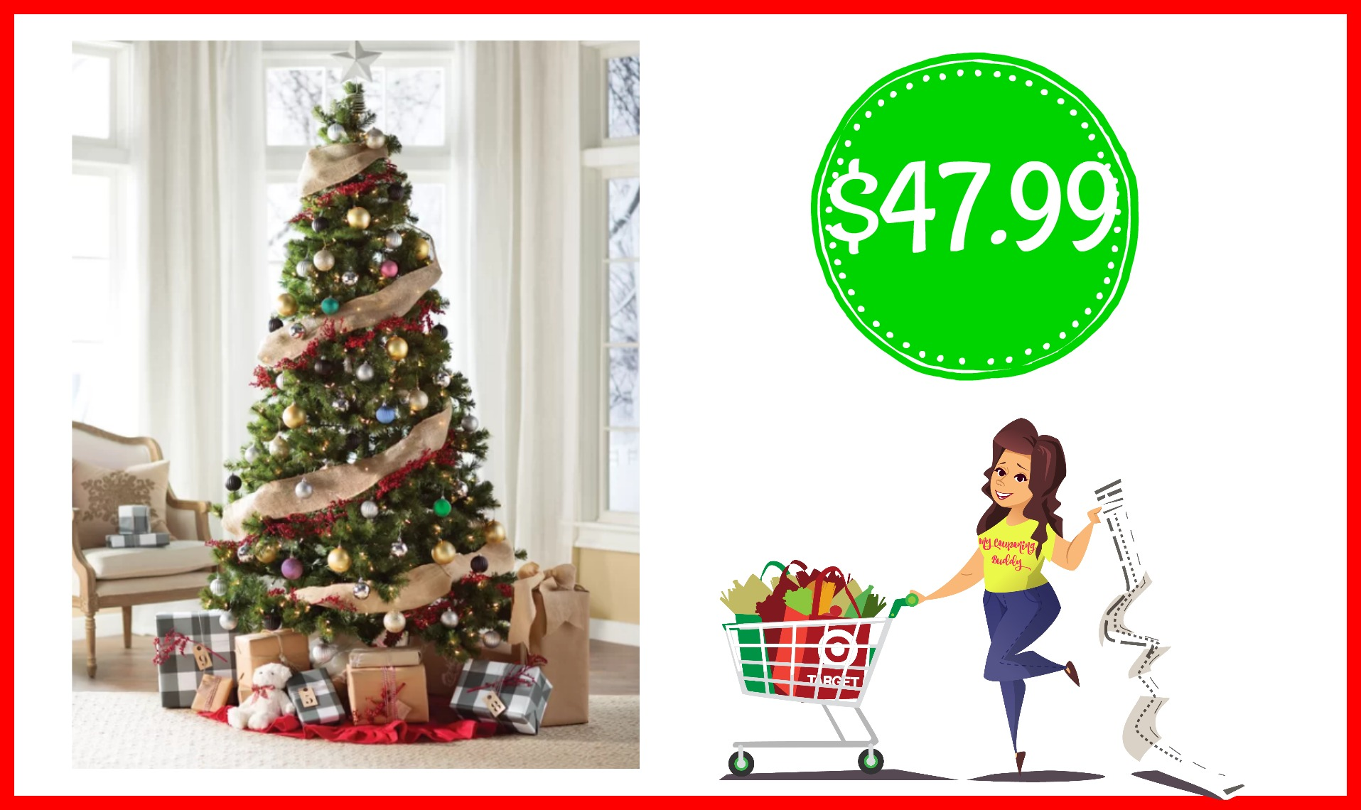 Green Fir Artificial Christmas Tree $47.99 | Couponing | United ...