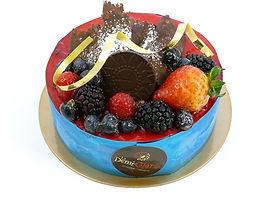 Gâteau Le fraises, framboises et chocolat noir