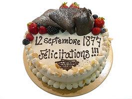 Gâteau Le crème au praliné