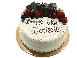 Gâteau Le crème au chocolat blanc belge vanille