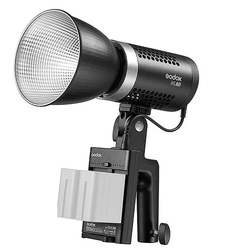 LED Godox ML60 de 60 watts, alimentación AC y DC.