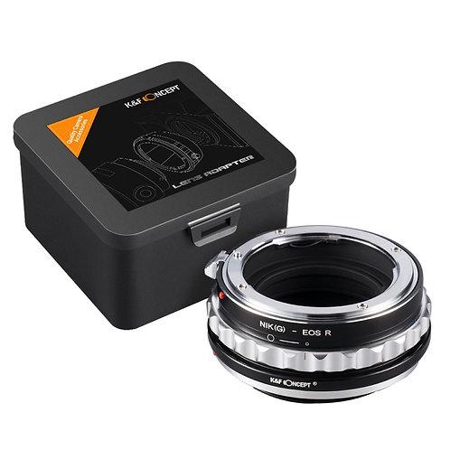 Adaptador manual K&F NIK(G)-EOS R, lentes Nikon F (G/F/AI/AIS/D) en Canon R