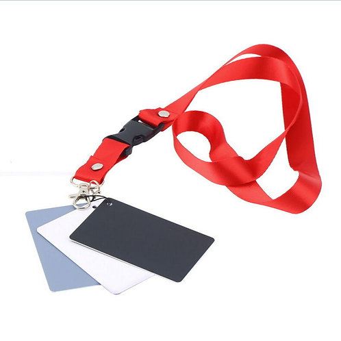 Kit de 3 tarjetas de balance de blancos